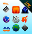 Misc logo elements vector