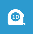 Measurement icon white on the blue background vector