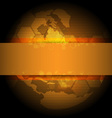 Golden global background design vector