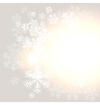 Christmas winter background with snowflake vector