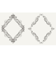 Two original calligraphy rhombus frames vector