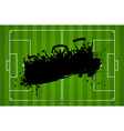 Football or soccer background with grunge vector