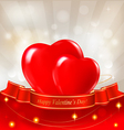 Red hearts valentine background vector