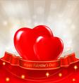 Red hearts valentine background vector