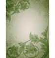 Vintage floral green vector