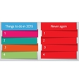 New year resolution double list template vector