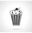 Cupcake with raisins black icon vector