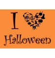 I love halloween vector