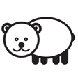 Cute animal bear - vector