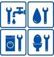 Set of plumbing signs vector