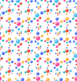 Seamless pattern with colorful circles party vector