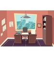 Stylish business working office room background vector