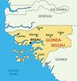 Republic of guinea-bissau - map vector