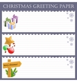 Christmas greeting paper with snowflakes vector