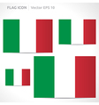 Italy flag template vector
