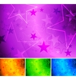 Vibrant star backgrounds vector