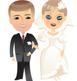 Wedding bride and groom cartoon vector