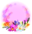 Card with freesia flowers vector