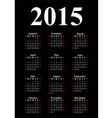 Vertical calendar for 2015 vector