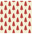 Seamless pattern with red christmas trees vector