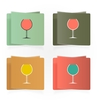 Set of simple glasses for alcoholic drinks vector