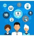 Mobile device communication concept vector