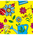 Summer floral print pattern vector