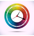 Time for design concept clock vector