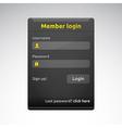 Member login box vector