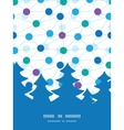 Connected dots christmas tree silhouette pattern vector