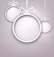 Paper round christmas balls vector