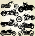 Cruiser motorcycles vector