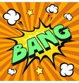 Bang cartoon comic explosion vector