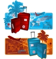 Travel around the worl background vector