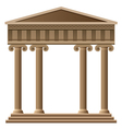 Ancient greek architecture vector