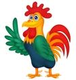 Cute rooster cartoon waving vector