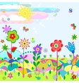 Summer meadow vector