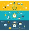 Time management banner set vector