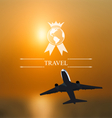 Design of tickets for worldwide travel corporate vector