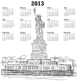 Statue of liberty 2013 calendar vector