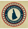 Vintage label new hampshire vector