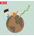 Business man watering graph - - eps10 vector
