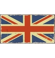 British grunge flags vector