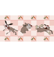 Border for wallpaper with rabbits vector