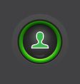 Profile glossy circle dark button vector