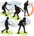 Tennis silhouettes vector