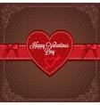 Vintage valentines card vector
