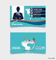 Abstract creative business card template vector