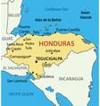 Republic of honduras - map vector