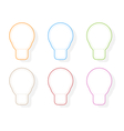 Colors light bulb icons vector